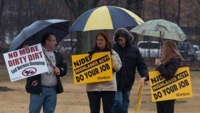 Rainy day Rally at the DEP